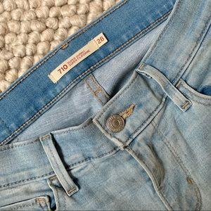 LEVI'S 710 Super Skinny Jeans in Light Blue - 28